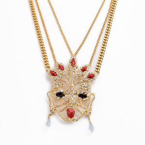 xl01304 Gold Mangalsutra Designs Women Head Silver Necklace Pendants