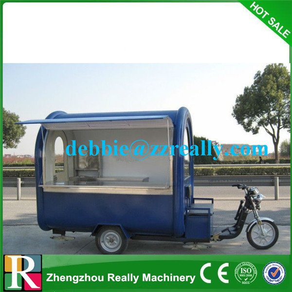 Commercial outdoor electric food cart with high quality battery food cart