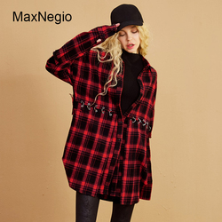 Maxnegio Long Sleeve Plaid Images Of Ladies Casual Long Tops