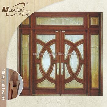 Japanese Exterior Wooden Flush Door Design With Glass View Japanese