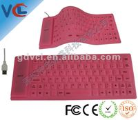 latest hot sale silicon keyboard, flexible and portable