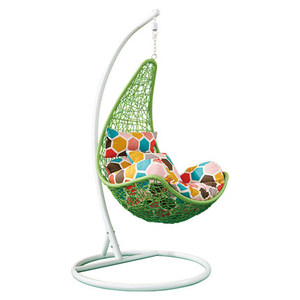 rattan hanging chair with cushion hanging indoor swing chair balcony furniture