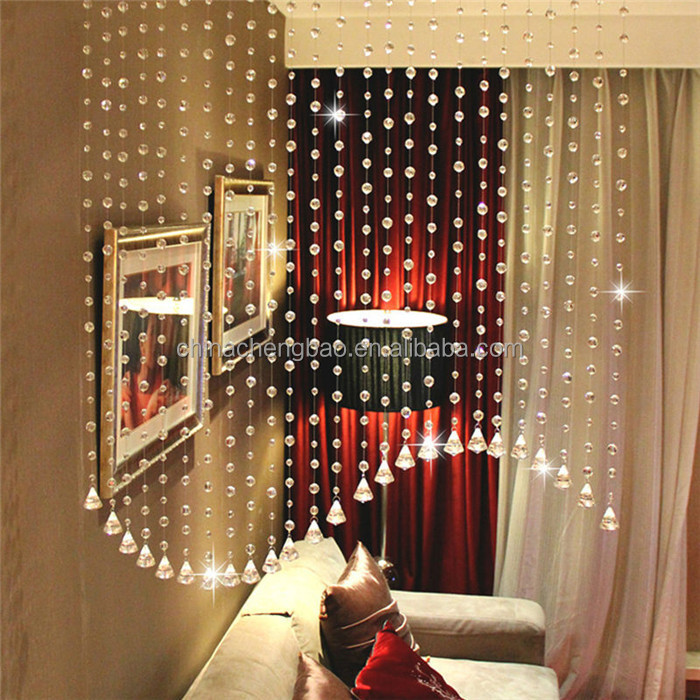 New designs crystal bead curtain ceiling drapes