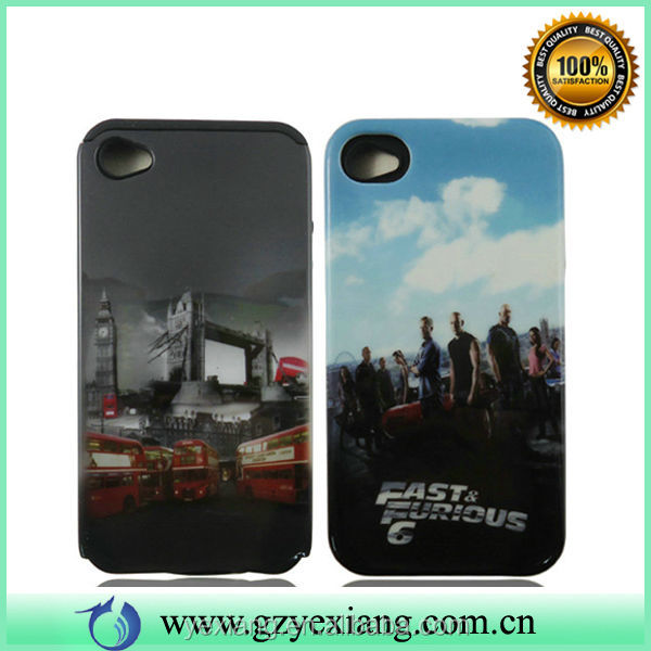 Wholesale Water Transfer Printing Case For iPhone 4 Protectores Celular