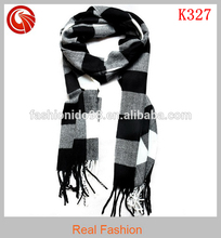 2012 new cotton brushed fringed Tartan scarf Mens scarf