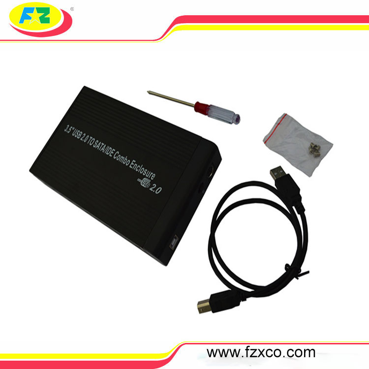 3.5inch usb2.0 hdd external enclosure sata hard drive case 3.5 hdd external box