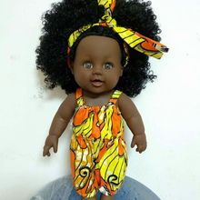 Wholesale population lovely 12 inch african american black baby girl dolls