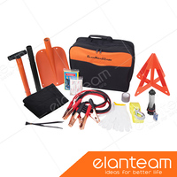 Emergency Roadside Assistance Kit First Aid Car Auto Travel Survival / Emergency kit with Alu. Snow Shovel