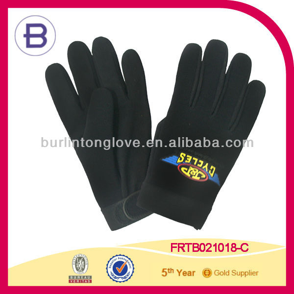 Motorcycle Biker Mesh Mechanic Gloves Leather Palm