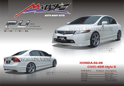 06-08-CIVIC-4DR-for HONDA pu body kits