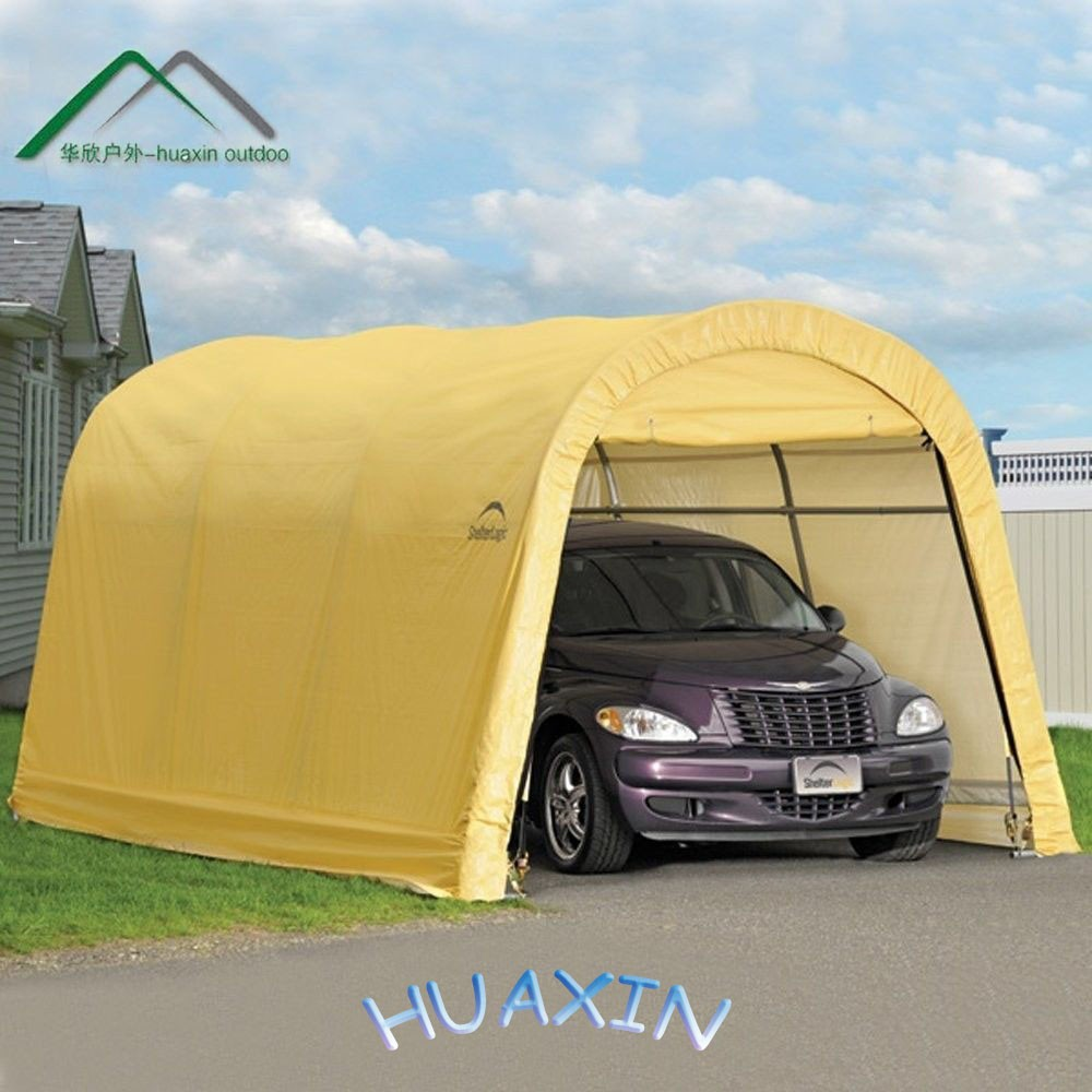Instruction To Set Up A Portable Carport : Easy set up carport portable car garage with customize