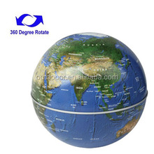 Fashion shop decoration Rotating Globe Stereo Decorations (Blue)