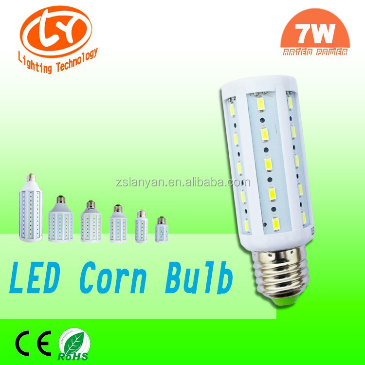 LED LAMP Corn, LED Bulb E27 E14 35pcs SMD5730, LED Corn Light with Plastic Cover
