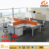 KD-08 Modern chipboard partition modular office 6 seater office workstation