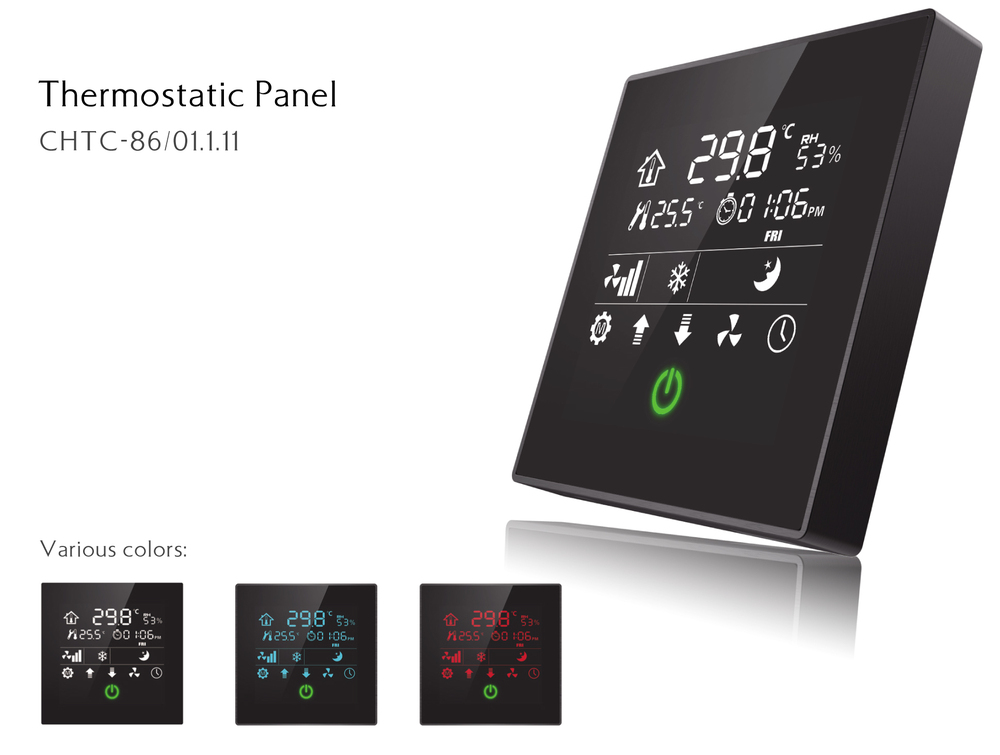 knx eib intelligent touch screen smart home automation. Black Bedroom Furniture Sets. Home Design Ideas