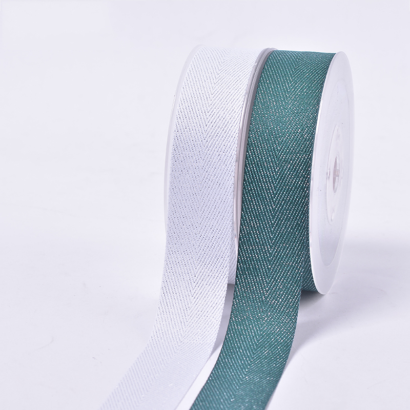 OEM color 3 inch silver purl Twill reusable grosgrain gift packaging ribbon