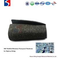 Polyester mat reinforced SBS modified bitumious waterproof membrane