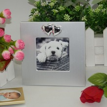 3x3 inch pet lovely animal mini silver photo frame wholesale
