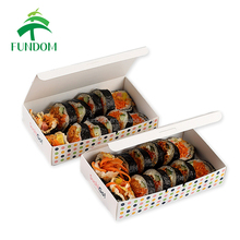 300 gsm coated paper cheap in bulk logo printed wholesale food grade paper box for japanese sushi roll packing