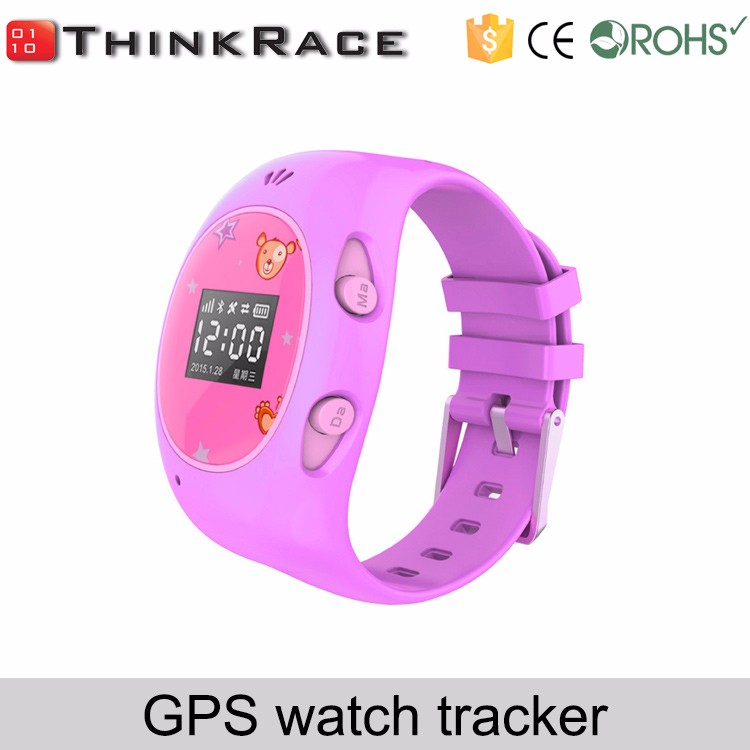 gps tracking model Real-time and low battery alarm for kids care wrist watch Thinkrace