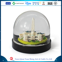 Custom Polyresin Water Ball,Resin Plastic Glass Snow Ball Souvenir,Customized Souvenir Snow Globes