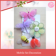 Nylon butterfly theme nursery mobile decoration