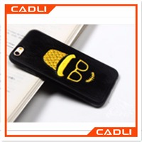 Cool design embroidery patternTPU silicone phone case for iphone 6s 6 plus Samsung Galaxy S6 s7 s7 edge mobile phone case