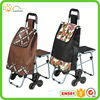 Folding shopping cart USA style metal shopping cart with baby seat