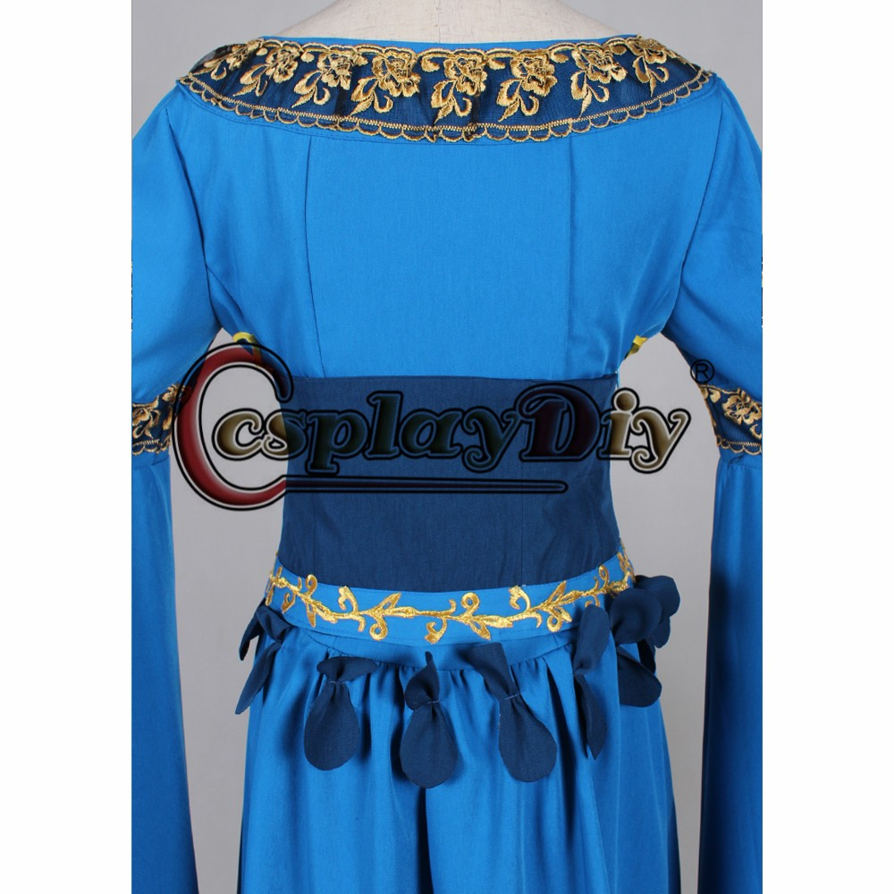 deluxe blue medieval dress for women cosplay costume custom made