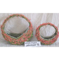 Decorative Moss and Sisal flower basket flower pot