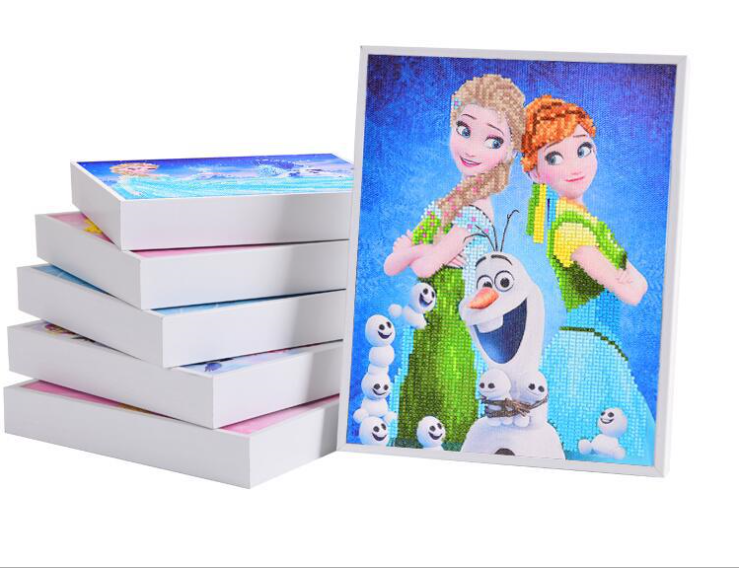 Educational toys kindergartens children's creative handmade stickers DIY material, children's diamond stickers