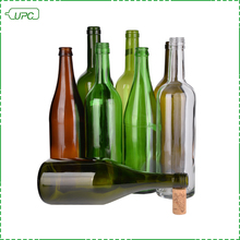 Differnent color size OEM liquor bottle size empty wine bottle glass drinking