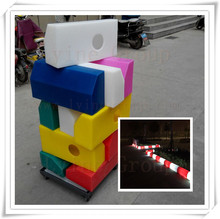 Colorful outdoor and indoor inflatable light kerbstone with led,inflatable plastic LED light car stop stone