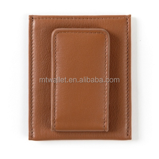 Genuine leather Magnetic Money Clip Wallet,Money Clip Card Case