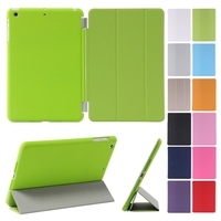 2015 New&Hot Smart Cover Case For iPad mini 1/2/ 3 Retina wake-up sleep belt clip case for ipad mini 2pcs/lot