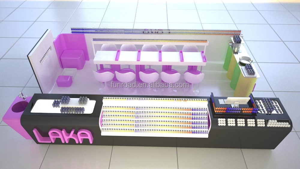 nail bar manicure tables for mall  nail bar design