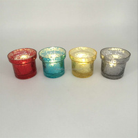 Replacement glass tealight candle holder for valentine's day