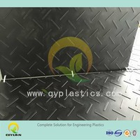 Portable plastic ground protection mat/ anti-aging polyethylene sheet car floor mat/