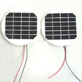 D120mm Round 6V 200mA Solar Panel 1.2W Solar Cell with Cable in White Color