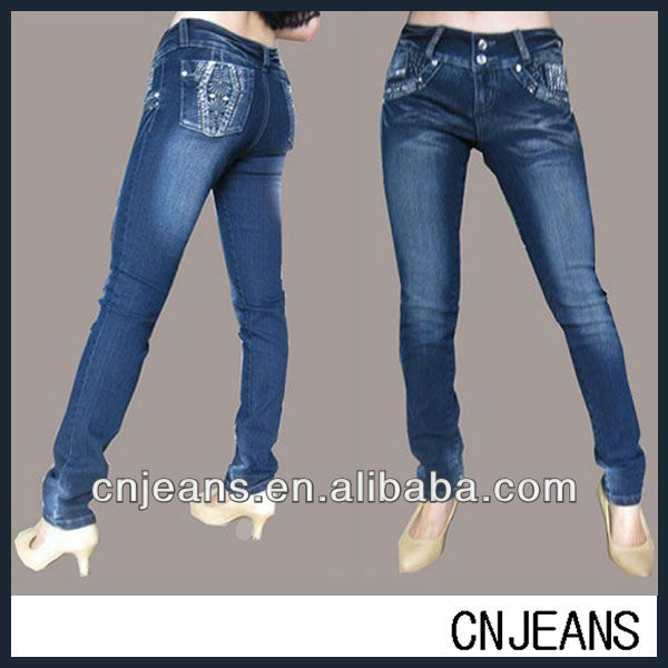 New style wholesale brazilian jeans, fashion women jeans