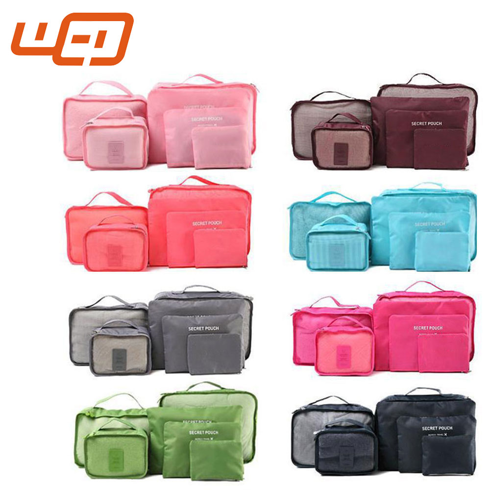 New Arrived Packing Cube 6Pcs Waterproof Clothes Golf Carry Storage Luggage Organizer Pouch Travel Duffle Bags