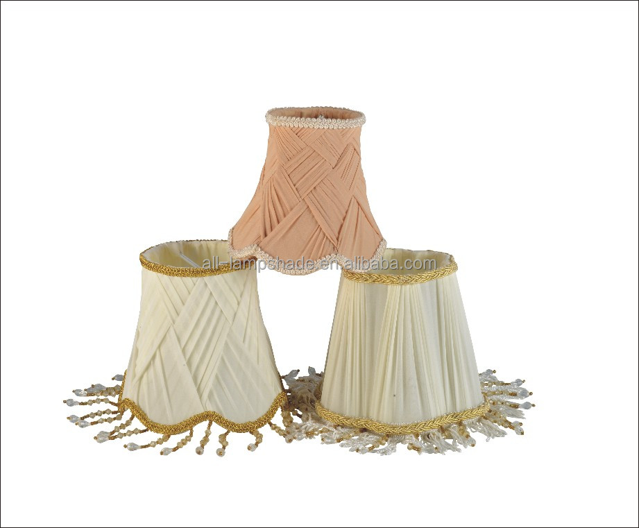 Hot Sale Fabric Pleated Lamp Shade with Tassel for Hotel Table Lamp Colorful Frame