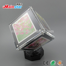 decorative magnetic acrylic mini cube picture photo frame