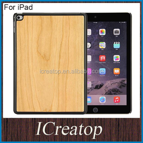 Original Natural Real Wood shell wallet wooden protective case cover for iPad mini 3 4