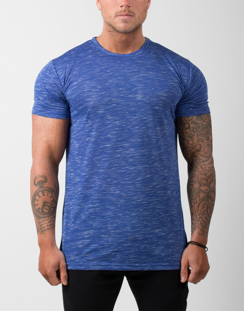 wholesale athletic wear custom triblend mens gym t shirt