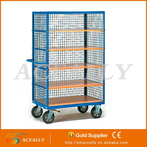 Folding and Stackable Steel Wire Mesh Storage Container