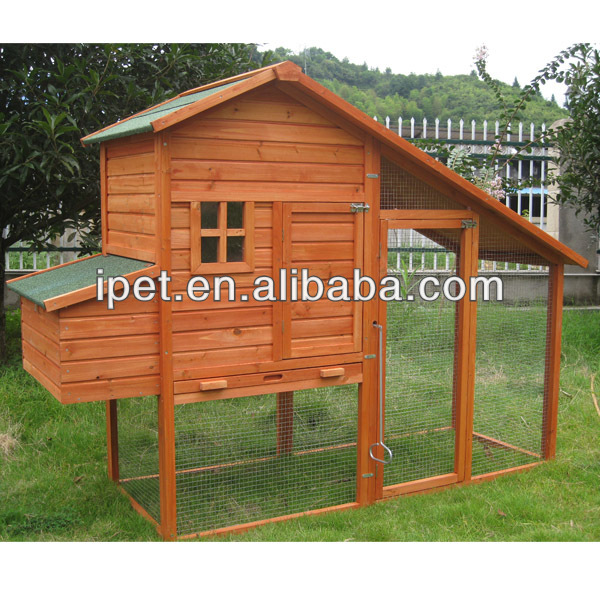 Cheapest 2 Nesting box Wooden Chicken Cage with Large Run CC072