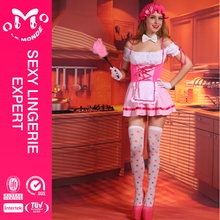 Popular for the market one size fashion pink dress up maid costume