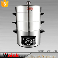 3-layer mechanical muiltfunctional electric food steamer