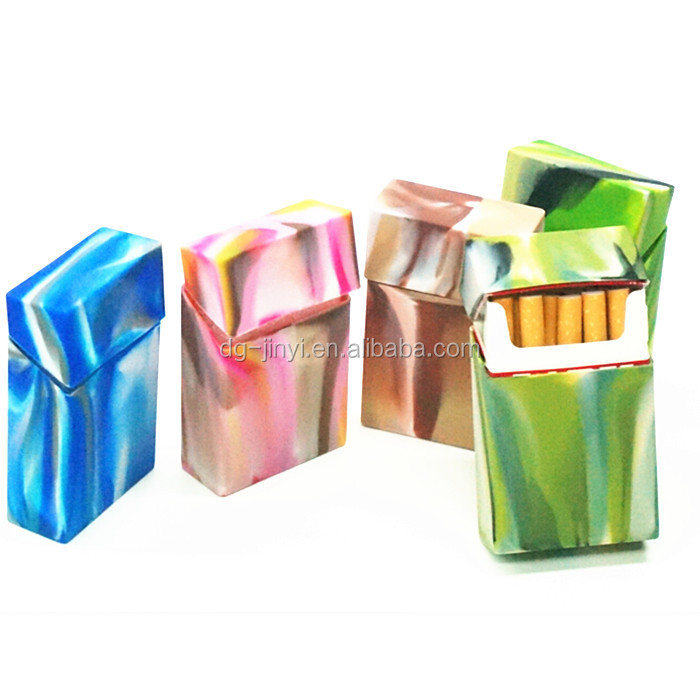 Latest design cigarette box cover wholesale cigarette cases rainbow smoke cigarettes case